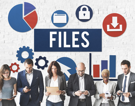 Files Document Technology System Storage Concept Imagens - 57933822