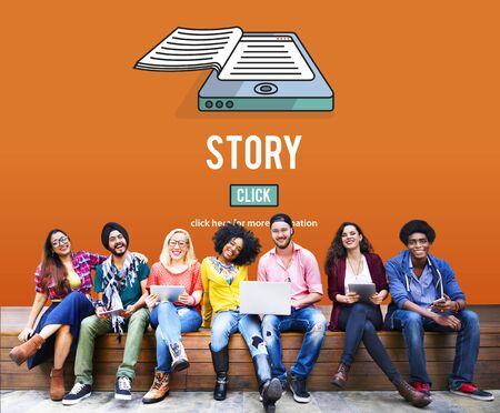 ストーリー ドラマ プロット詩おとぎ話物語コンセプト 写真素材