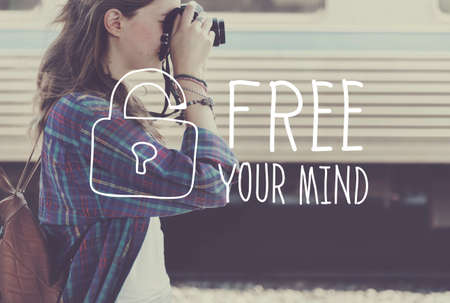 let out: Free Your Mind Relax Energy Lazy Concept