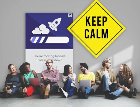 breathe easy: Keep Calm Reduce Speed Relax Slow Down Concept Stock Photo
