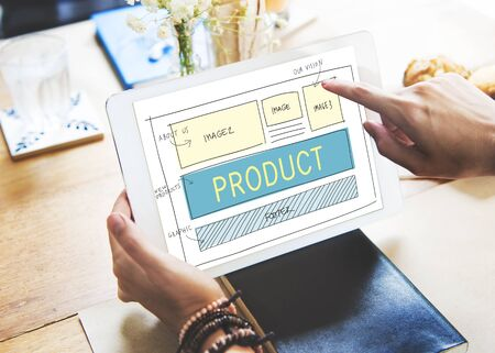 media distribution: Product Production Manufacturing Supply Distribution Concept