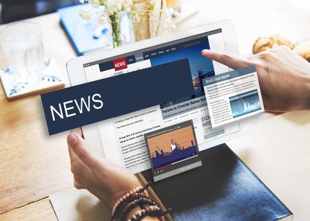Update Trends Report News Flash Concept Reklamní fotografie