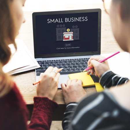 small business team: Small Business Niche Market Products Ownership Entrepreneur Concept