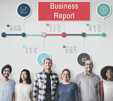 Business Report Progress Research Analysis Status Concept Stock Photo