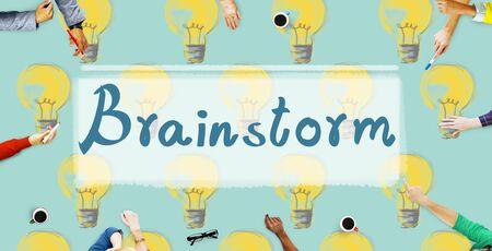 brainstorm: Brainstorm Ideas Creativity Imagination Inspiration Concept Stock Photo