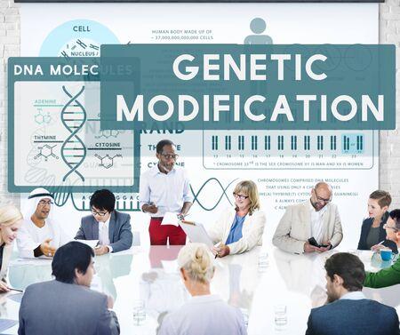 modification: Genetic Mutation Modification Biology Chemistry Concept
