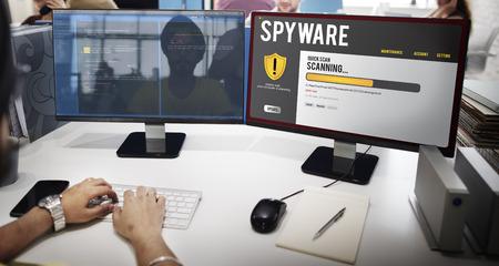 Spyware concept on a computer