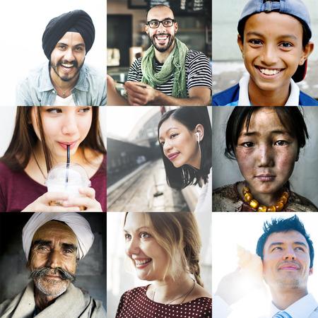 Vielfalt unterschiedlicher ethnischer Herkunft Einheit Variation Konzept