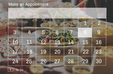 event calendar: Make an Appointment Calendar Schedule Organization Planning Concept