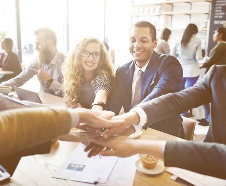 teamwork people: Business People Collaboration Teamwork Union Concept