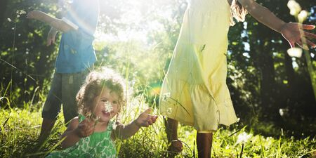 mum and child: Whole Family Outdoors Togetherness Concept