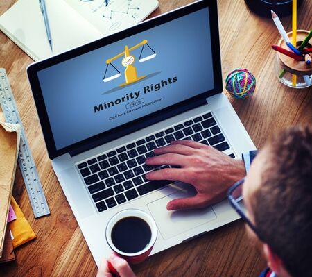 racial: Minority Rights Diversity Ethnicity Racial Respect Concept Stock Photo
