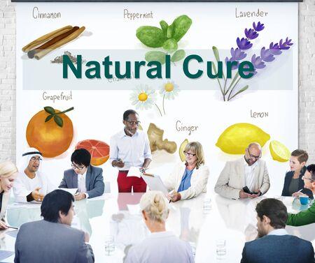 eastern medicine treatment: Medicinal Plants Natural Cure Herb Herbalism Concept