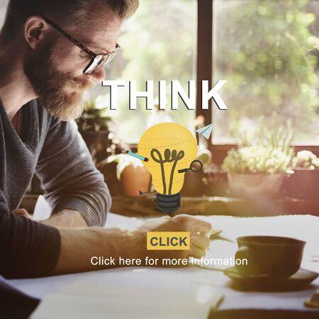 inspiration determination: Think Idea Inspiration Planning Thoughts Determination Concept