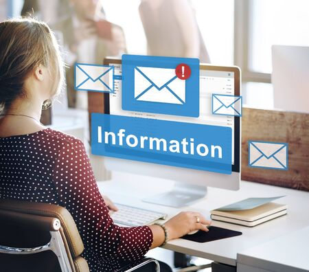 email: Data Information Email Connection Online Concept Stock Photo