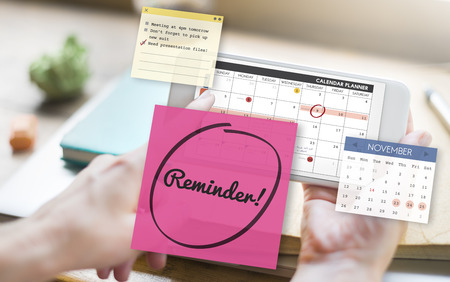 forgetful: Reminder Important Memo Memory Notice Text Concept Stock Photo