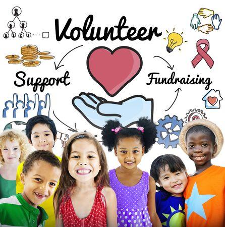voluntary: Volunteer Voluntary Volunteering Aid Assisstant Concept Stock Photo