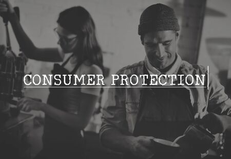 consumer: Consumer Protection Legal Rights Fair Trade Concept