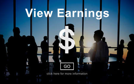 earnings: View Earnings Accounting Financial Money Concept