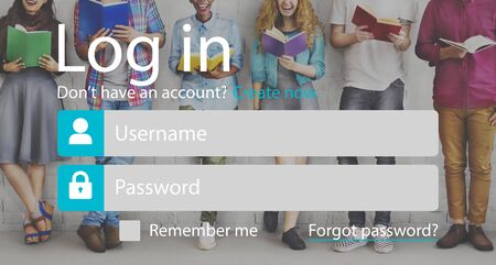 username: Login Registration Username Password Concept Stock Photo