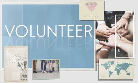 volunteering: Volunteer Aid Assist Charity Giving Service Help Concept