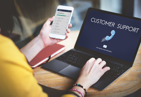 online service: Customer Support Assistnace Help Advice Client Concept