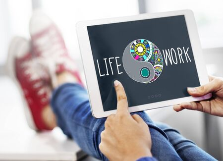 stability: Life Work Balance Stability Wellbeing Concept