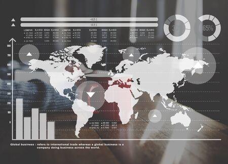 coffe break: Finance Analysis Business Global Market Concept