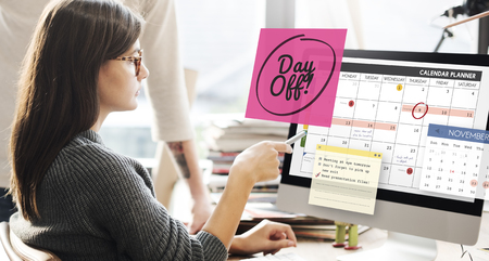benefit: Day Off Free Time Relax Vacation Holiday Schedule Concept