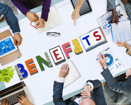 Business meeting with benefits concept Stock Photo