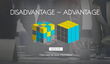 comparison: Disadvantage Advantage Comparison Decision Concept