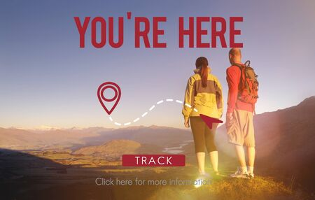 navigate: You Are Here Navigate Position Location Planning Concept Stock Photo