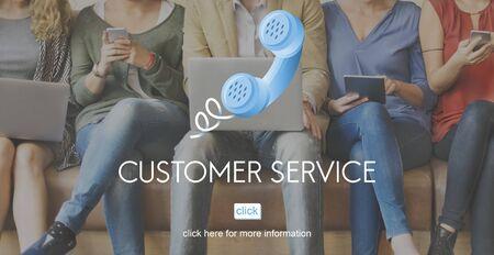 consumer: Customer Support Service Care Consumer Client Concept Stock Photo