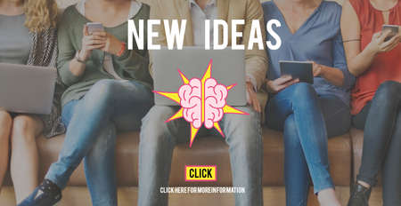 new ideas: New Ideas Vision Creativity Imagination Concept Stock Photo