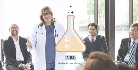 mature adult: Science Research Chemistry Lab Concept