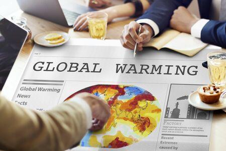 Contaminación concepto de calentamiento global efecto invernadero Foto de archivo