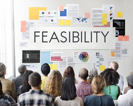 reasonable: Feasibility Reasonable Potential Useful Concept Stock Photo