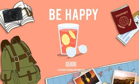 enjoy: Be Happy Lifestyle Leisure Enjoy Concept Stock Photo