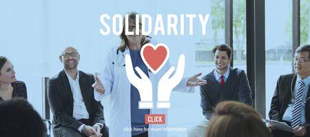 mature adult: Solidarity Charity Organization Social Help Concept