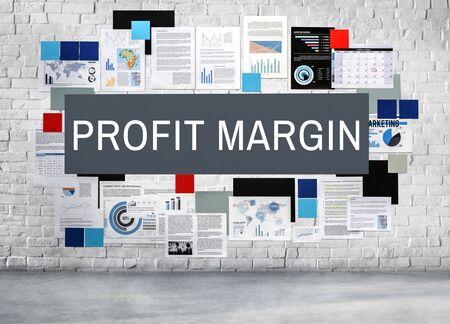 margen: Profit Margin Revenue Calculation Concept Foto de archivo
