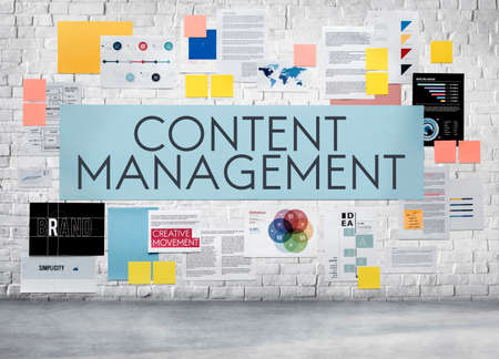 content management: Content Management Social Media Networking Programming Concept