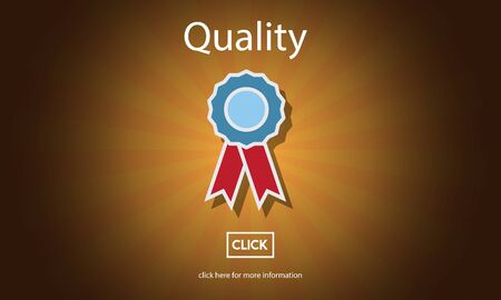 quality guarantee: Quality Guarantee Level Service Best Class Value Concept Stock Photo