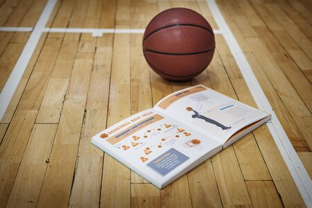 instruction manual: Basketball Manual Learn Instruction Game Concept Stock Photo