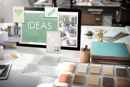 be: Be Raw Creative Design Ideas Concept Stock Photo