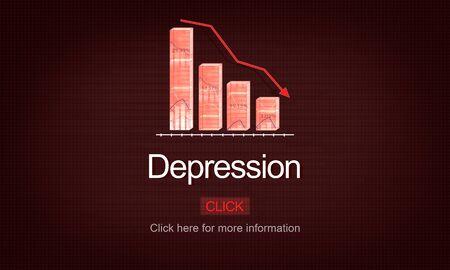 be ill: Depression Disorder Downturn Illness Medicine Concept