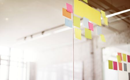 reminding: Post It Office Reminding Notice Organization Concept