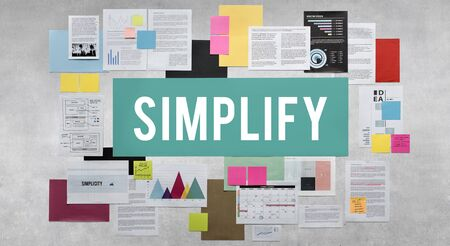 clarify: Documents Paperwork Business Strategy Concept Stock Photo