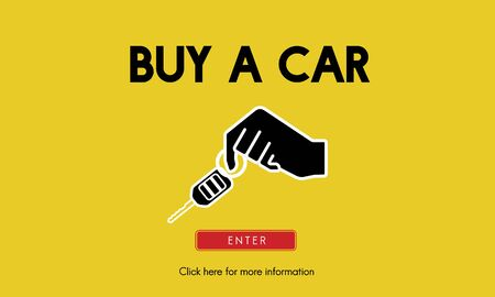 car rental: Car Rental Used Car Transportation Vehicle Concept Stock Photo