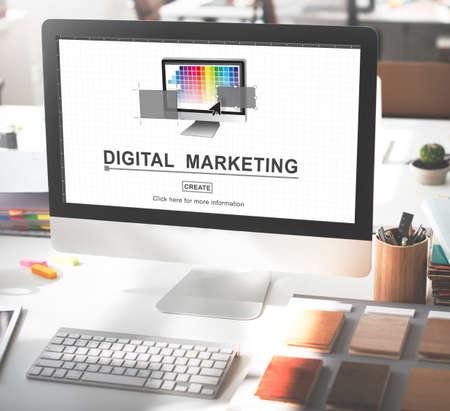 web marketing: Digital Marketing Media Web Design Ideas Concept