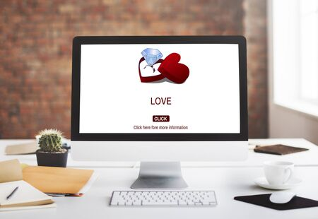 office romance: Love Engagement Ring Couple Love Concept Stock Photo